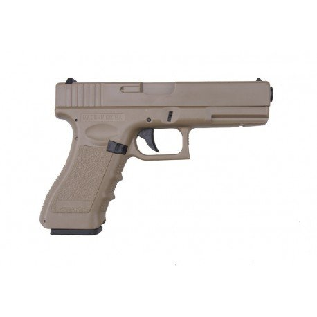 Cyma Softair Airsoft G18 Pistole AEP Semi/Full Auto Cm030t 0,5 Joule Kal. 6mm BB Desert
