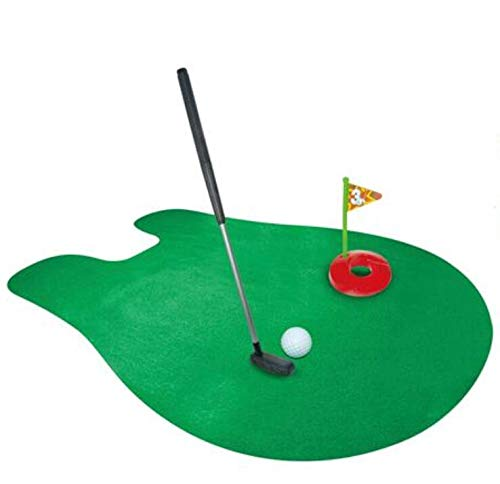 Zenguen Toilet Golf Set,Toilet Time Potty Golf Putter Game Novelty Mini Golf Putting Mat,Pack of 6 Pieces