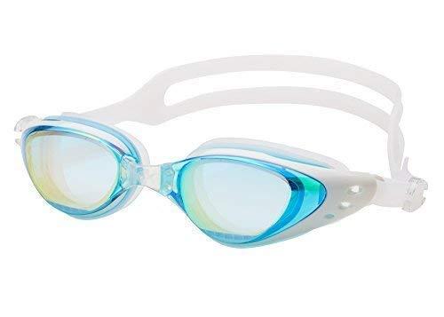 Aquazone Adjustable Swimming Goggles Premium UV 400 Protection-Anti Fog Swim Goggles-Free Case-Great Adult, Men's, Women's, Youth, Kid's or Child Swim Goggles (Aqua)