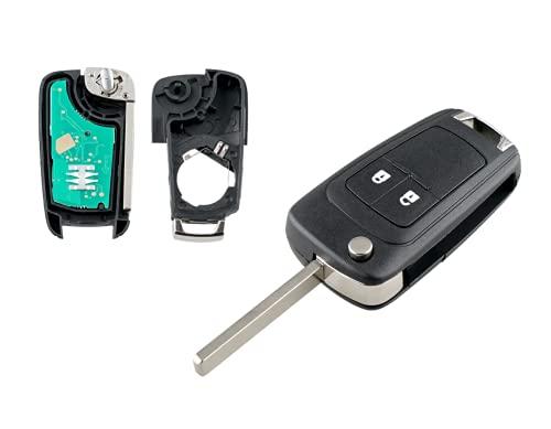 Llave con mando a distancia de 2 botones en blanco para Opel Astra Corsa Zafira AGIla a programar