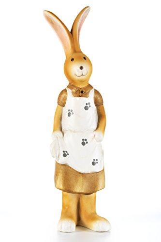 HEITMANN DECO Hase aus Keramik mit Weste und Hose für Garten, Wohnung und Haus - als Oster- und Frühlingsdeko