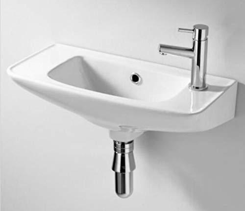Lavandino da bagno da appendere al muro, piccolo, bianco (senza rubinetto)