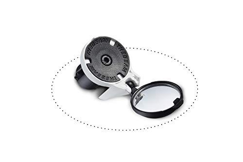 CORKY - Specchietto retrovisore per bici da corsa (Bianco)