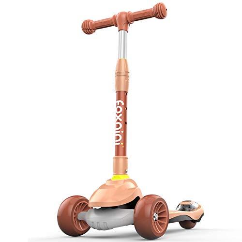 SZTUCCE Scooter Scooter Plegable para niñas Boys Scooter Truco Completo Scooters Intermedio y Principiante Freestyle Tricks Scooters para 8 años de Edad (Color : Pink)
