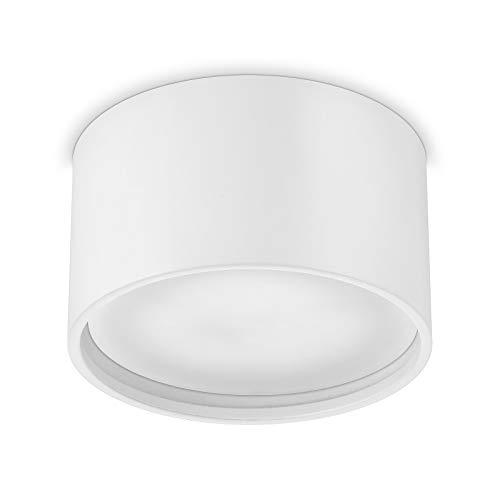Ledox Led Aura Aufbaustrahler Set GX53 inkl. Leuchtmittel 230V 9W GX53 3000K warmweiß Aluminium Aufbau-strahler-lampe-leuchte Decken-aufbau-leuchte-lampe-strahler (weiß)