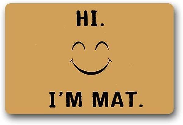 Doormat Custom Machine Washable Door Mat Hi I M Mat Indoor Outdoor Decor Rug 23 6 L X 15 7 W
