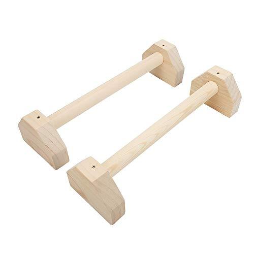 Lacyie Parallettes aus Holz Set 2 Stück Push up Bar Calisthenics Handstand Single Doppelte Griffe Yo
