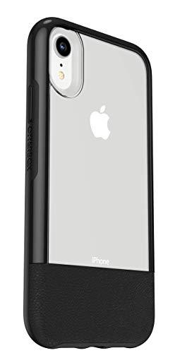 Otterbox Slim bundle, Pack Funda Anti Caídas Fina y Protector de Pantalla Cristal Templado, Trasera iPhone XR Negro, Color Transparente