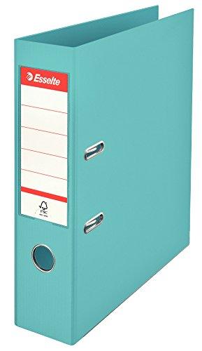 ESSELTE 626212 - Archivador de palanca plástico forrado COLOUR'ICE con rado y ojete DIN A4. Lomo 75 mm color azul