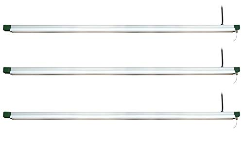 StonePoint LED Lighting 4 Foot Grow Light Strip – Linkable Grow Light, Indoor and Outdoor Use Approved (Pack of 3)