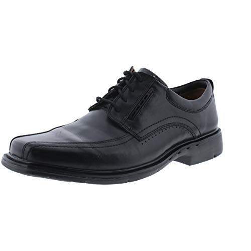 Clarks Un.Kenneth Mens Black Leather Oxford 15-Extra Wide