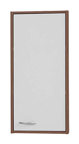 FMD 901-001 Hängeschrank Madrid 1 B/H/T ca. 32,5 x 72 x 19 cm zwetschge/weiß