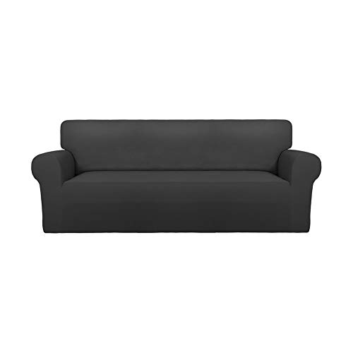 PureFit Super Stretch Spandex Non Slip Soft Couch Sofa Cover, Washable Furniture Protector with Non Skid Foam and Elastic Bottom...