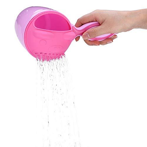 Pssopp Taza de Enjuague de baño para bebés Lavado de Cabello para niños Lavado de la Taza para el Cabello al Proteger los Ojos del bebé Accesorios de baño para bañera(Rosado)