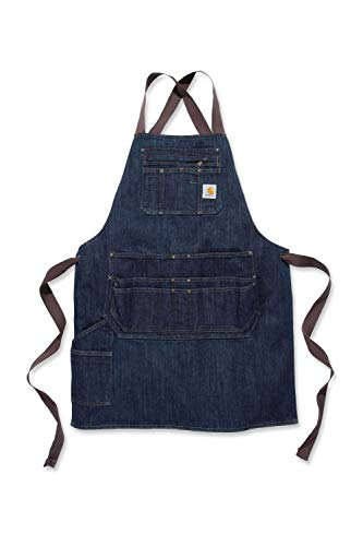 Carhartt Denim Apron, Dark Blue Ridge, OFA Unisex-Adulto
