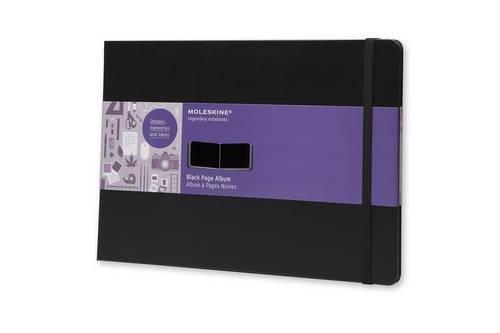 Moleskine FO1A5 Album mit schwarzen Seiten A4, Hardcover schwarz