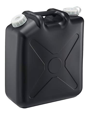 瑞穂化成 扁平缶 ノズル無 20L ブラック 0207BK 両口 カラーポリタンク