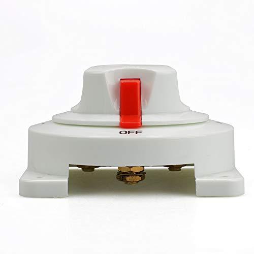 SGYANZLG Distribución Blanco Interruptor Marina Barco de la batería del Interruptor selector de Marina Dual de la batería for el Barco RV Motor YC101589