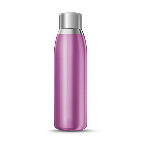 Intelligente Trinkflasche, 500 ml Edelstahl vakuumisoliert, LCD-Touchscreen, Temperaturanzeige, Trinkwasser- und abgelaufene Wassererinnerung, Wärme & Kälte halten,PBA-frei
