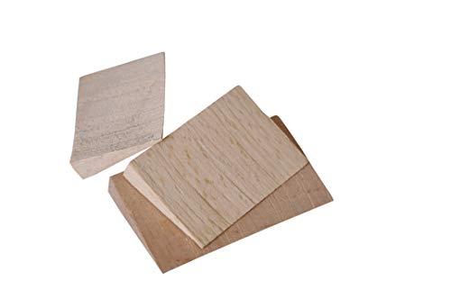 Adler Holzkeile für Äxte, Beile, Spalthämmer, Hacken, etc, aus Buchenholz zur Fixierung von Kopf und Stiel - Verschiedene Größen (Äxte 65 x 10 x 40 mm)