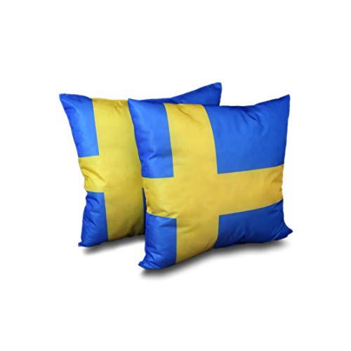 MERINO BETTEN 2er Set Kissen 40x40 | Dekokissen | Schweden-Kissen | Kissen mit Reißverschluss