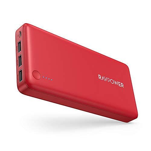 Portable Charger RAVPower 26800mAh Power Bank Battery Pack Total 5.5A Output 3 Ports Huge Capacity External Battery Portable Phone Charger Compatible with iPhone 11 Pro iPad Samsung Galaxy S10 Note10