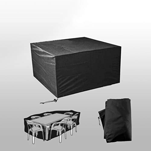 Funda para muebles de jardín U / A, impermeable y a prueba de polvo, funda para muebles de exterior, tela Oxford negra, resistente a roturas, tamaño: 80 x 66 x 100cm.