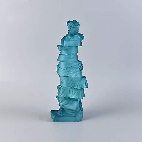 Ornamente Große Statue, einzigartige handgemachte Figur Griechische Göttin der Liebe Kunsthandwerk, Polyresin Skulptur für Home Office Desktop A 44x14x11cm (17x6x4inch)