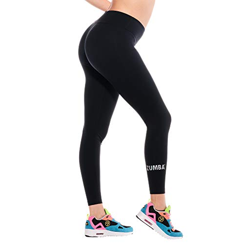 Zumba Athletic Sparkle Workout High Waisted Leggings with Swarovski Crystals, Iridescent, S para Mujer