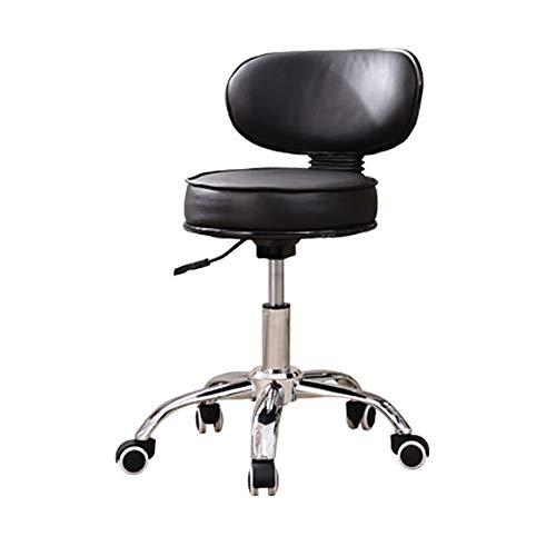 Qi Peng Fauteuil pivotant - Fauteuil de bar Ascenseur Chaise d'ordinateur Chaise de bureau à domicile Chaise de personnel Président Boss Chaise Beauty Nail Chair Tabouret rond à pieds hauts Chaise piv