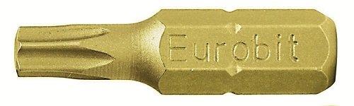 Eurobit 2762 Inserti per Avvitatore, Giallo, T30 x 25, Set di 5 Pezzi