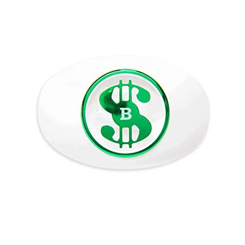 Battle Money Spinner Oxygen Football Mouthguard - White/Green