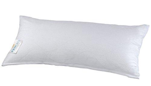 PROCAVE Feinflanell - Schutzbezug für Kissen in der Größe 40 x 80 cm Kissenbezug aus 100% Baumwolle mit Reißverschluss - Made in Germany - schützt Das Kissen vor Verunreinigung