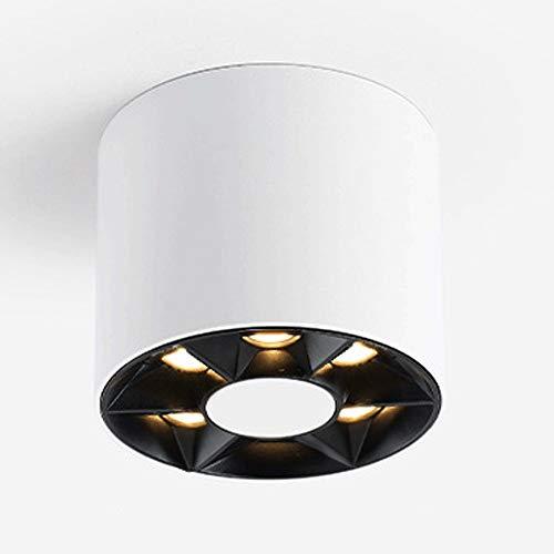 Foco giratorio de la luz del techo LED for la sala de estar de la cocina Dormitorio Lámpara de techo Manchas ajustables 6 luces 110V - 230V Downlight Lighting Lighting Lighturing [Energy Class A +]