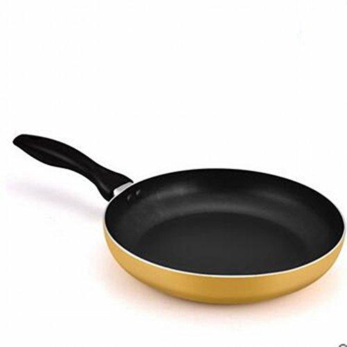 BQC Poêles Ne Pas Coller la Casserole Pas de Fumée D'huile Fumée Poêle à Pain Poêle Petite Cuisinière à Induction Cuisinière Générale,Jaune