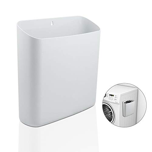 Picowe Magnetic Laundry Storage Large Lint Holder Bin for Laundry Room Space-Saving Trash Container Hanging on Dryer Washer or Wall Mount Trash Bin White