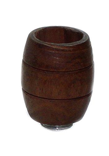 Budawi® - Holz Köpfchen Schwarz mit Gewinde Ø 22 mm, Zylinder Köpfe oder Pfeifenköpfe, Wasspfeife
