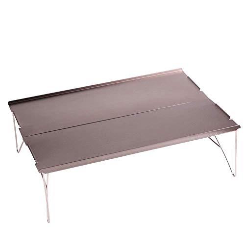 Kaikai Mesa de Camping Plegable, Mini Aluminio Ligero, portátil, extraíble, con Bolsa de Almacenamiento, tamaño pequeño Adecuado para una Persona, Viajes de Ocio Simple (Color : Gray)