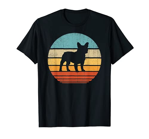 French Bulldog Retro Vintage 60s 70s Sunset Dog Lovers Men T-Shirt
