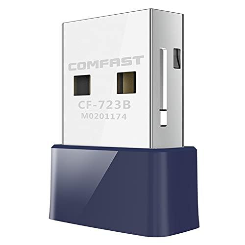 Mini Adaptador WiFi inalámbrico Mini USB 2.0 150 Mbps Receptor de Dongle Network Tarjeta LAN PC Bluetooth 4.0 Recibir y transmitir CF-723B (Color : A)