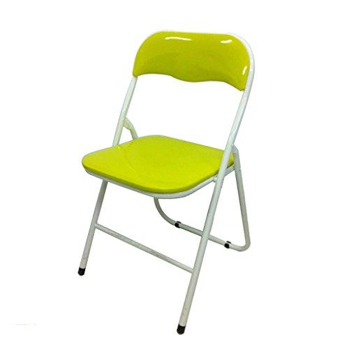 Chaise pliante Chaise de loisirs portable simple Chaise de bureau en cuir (Couleur : Vert)