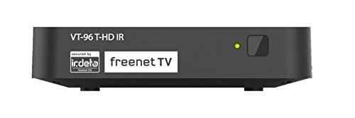 Vantage VT96 T HD-IR T2 receiver (DVB-T/DVB-T2, opnamefunctie, infrarood oog, 12 V) zwart