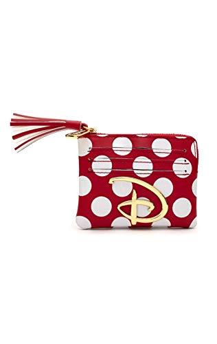 Disney Loungefly - Polka Dot Mujer Tarjetero rojo-blanco, Semi piel,