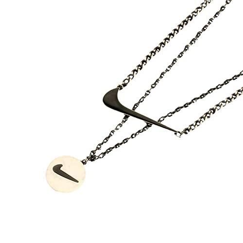 Collar personalizado, collar geométrico creativo, acero titanio, estilo hiphop, adecuado como regalo entre parejas
