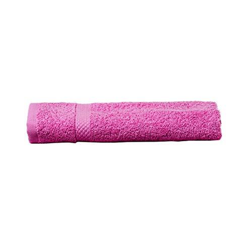UNIMASA Toalla tocador de 100% algodón, Color Fucsia - 30 X 50 CM