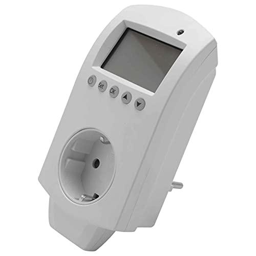 Lightofhope Controlador de Temperatura Eléctrico Inalámbrico Termostato Programable de Calefacción Por Suelo Cámara Calentador de Agua Con Pantalla Lcd