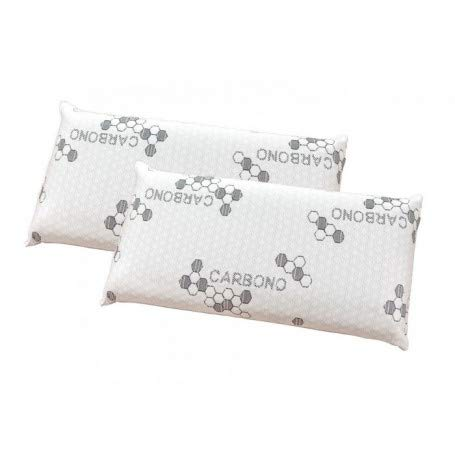 Pack de 2 Almohadas Visco Copos Carbono 70 cm