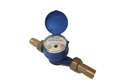 DAE AS200U-75 Water Meter, 3/4' NPT Couplings, Measuring in Gallons