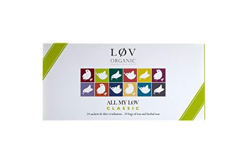Geschenkset All my Løv Classic - Auswahl von 24 einzeln verpackten Teebeuteln