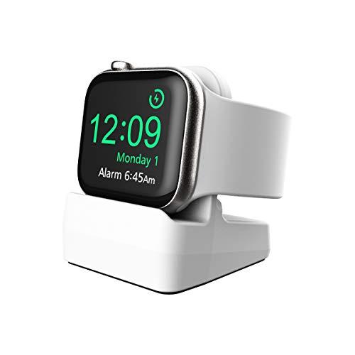 Cozycase Ladestation Ständer kompatibel mit Apple Watch Series 5/ Series 4/ Series 3/ Series 2/ Series 1, Halterung Dockingstation für Apple Watch 44mm/ 42mm/ 40mm/ 38mm (Weiß)